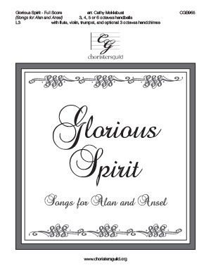 Glorious Spirit - Full Score
