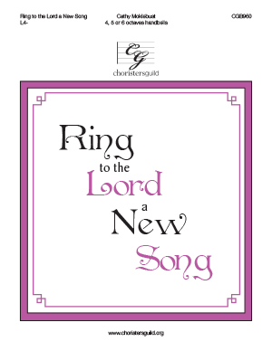 Ring to the Lord a New Song (4, 5 or 6  octaves)