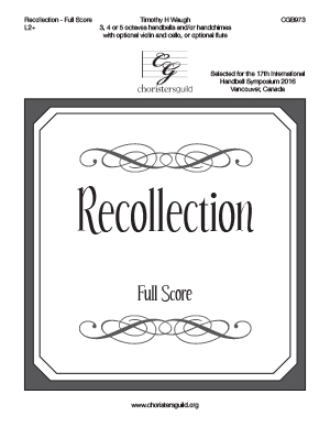 Recollection - Full Score