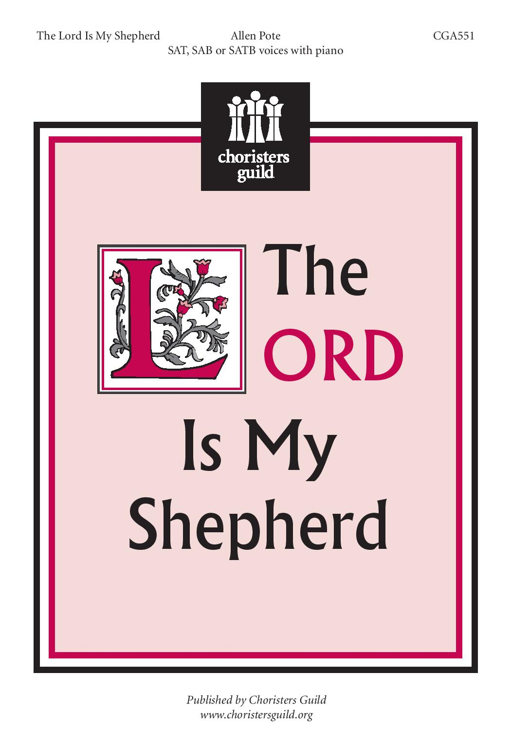 The Lord Is My Shepherd SATB