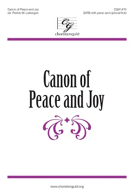 Canon of Peace and Joy Accompaniment Track