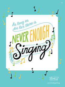 Never Enough Singing Poster - Sing! 2016