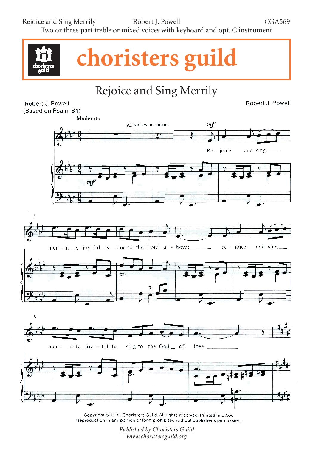 Rejoice and Sing Merrily