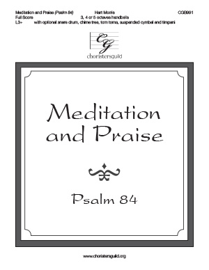 Meditation and Praise - Full Score