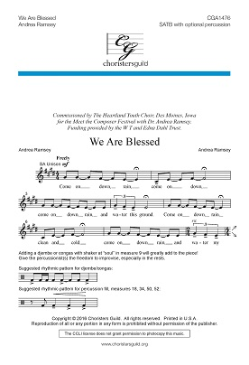 We Are Blessed (SATB) Audio Download