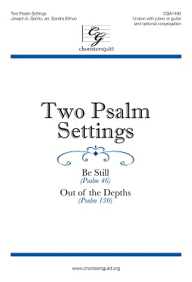 Two Psalm Settings (Be Still) Audio Download