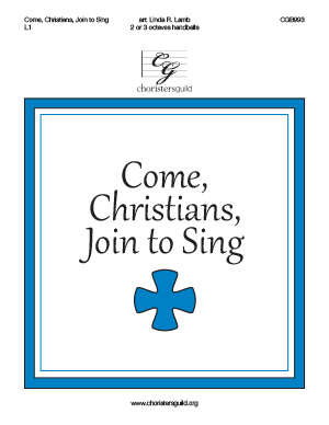 Come, Christians, Join to Sing (2 or 3 octaves)