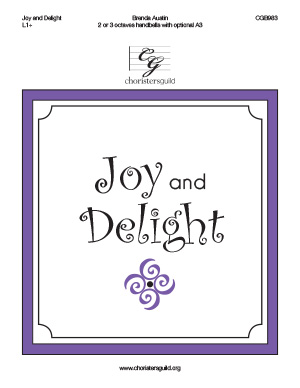 Joy and Delight (2 or 3 octaves)