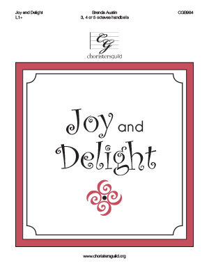 Joy and Delight (3, 4 or 5  octaves)