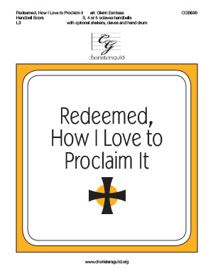 Redeemed, How I Love to Proclaim It - Handbell Score