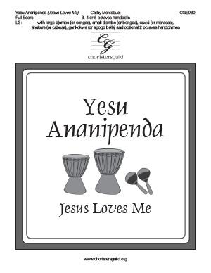 Yesu Ananipenda (Jesus Loves Me) - Full Score