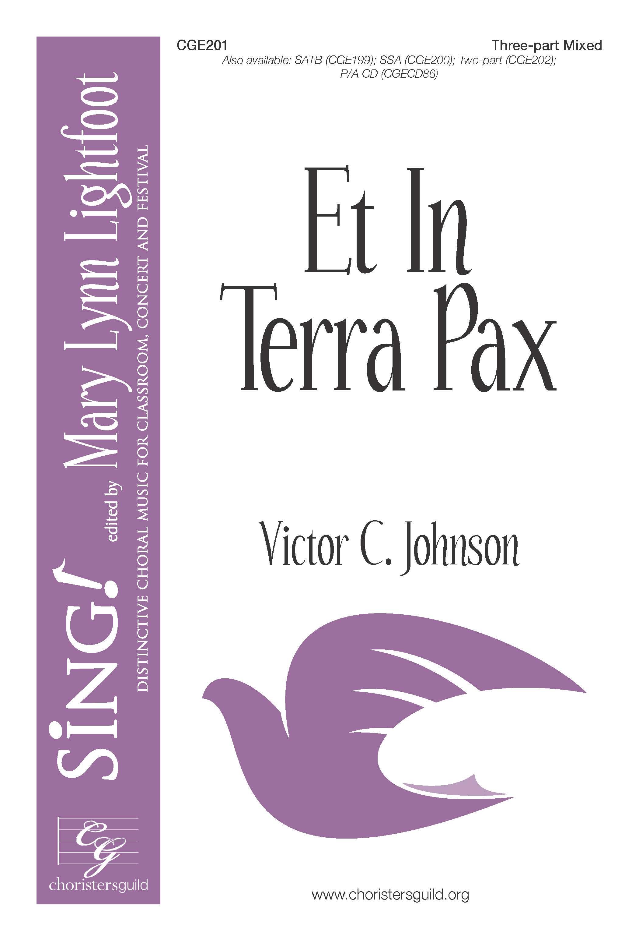 Et In Terra Pax Three-part Mixed