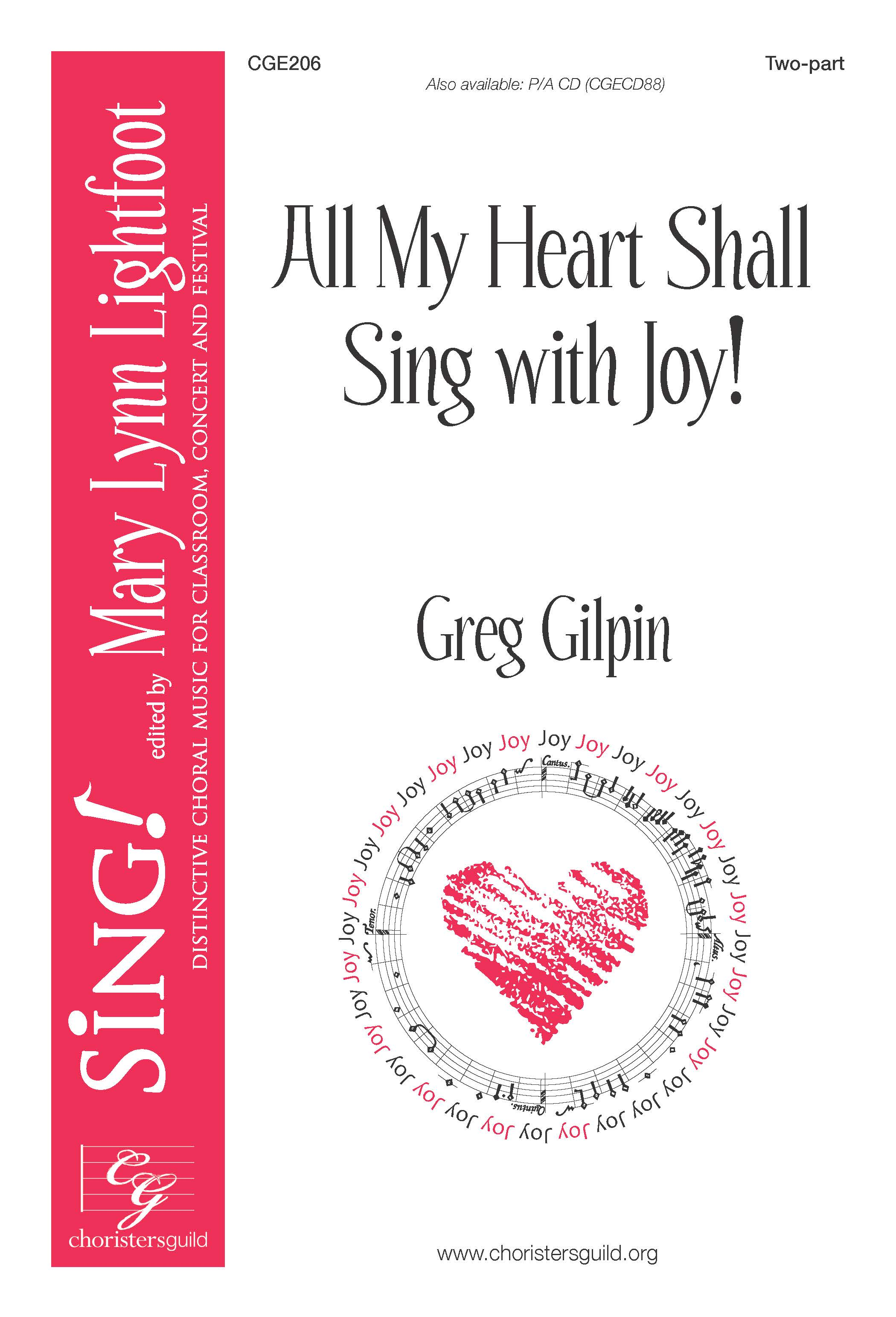 All My Heart Shall Sing with Joy! Two-part