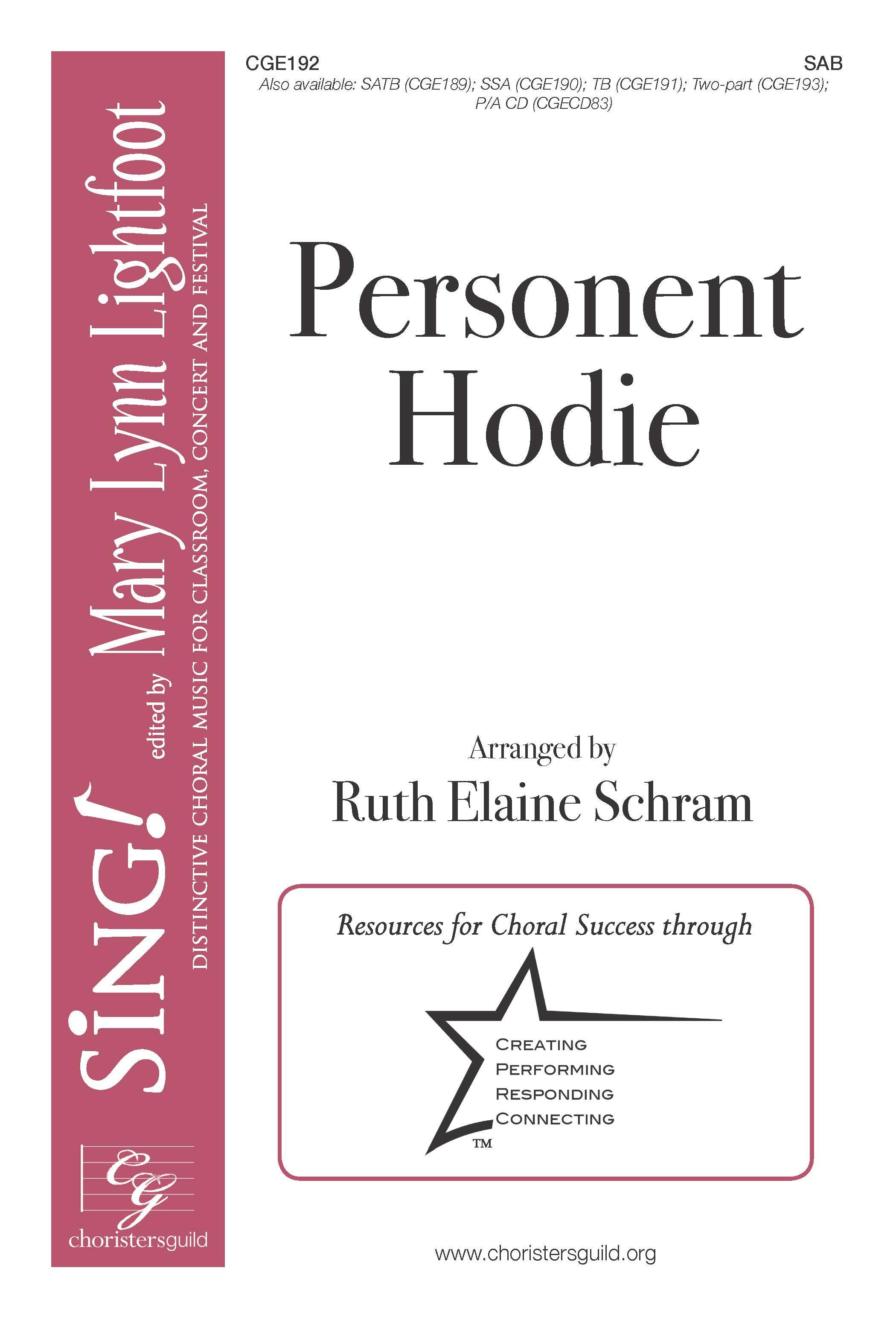 Personent Hodie SAB