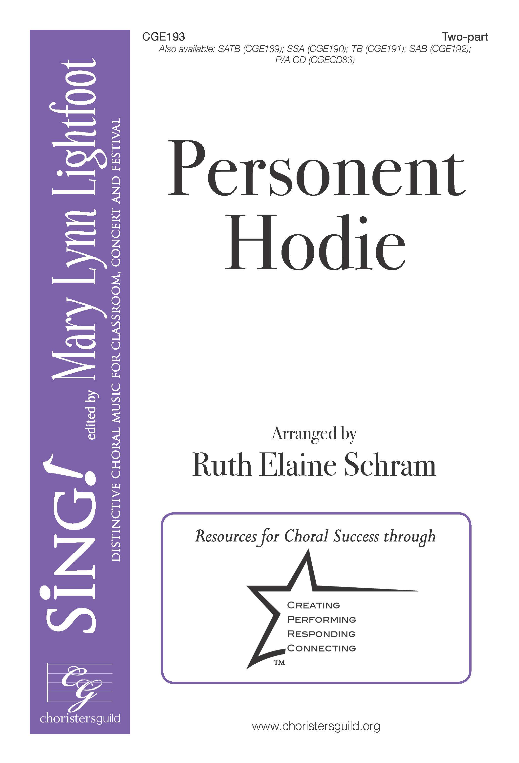 Personent Hodie Two-part with Opt. Handbells