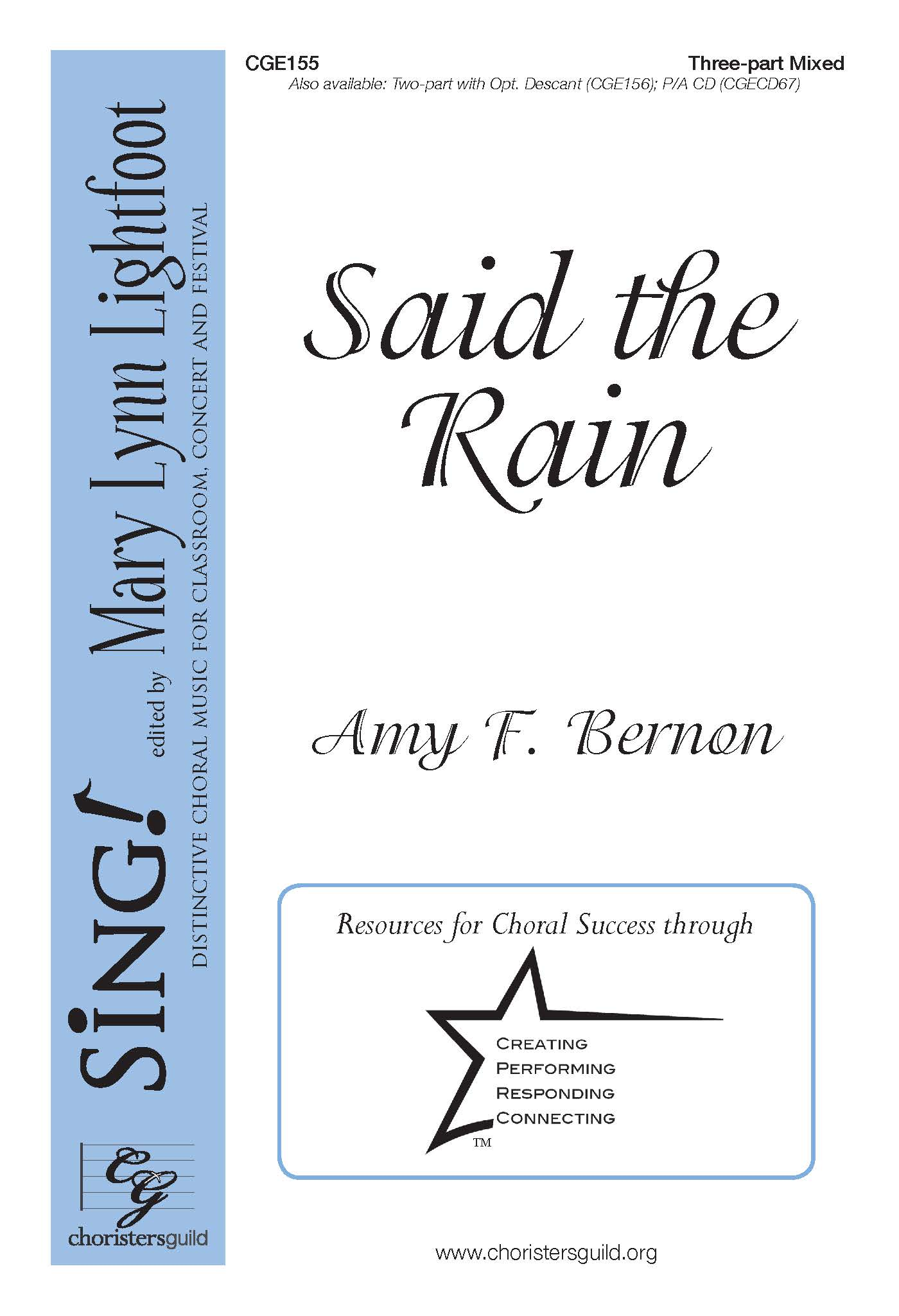 Said the Rain Three-part Mixed