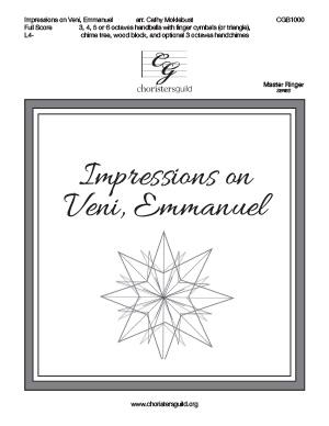 Impressions on Veni, Emmanuel - Full Score