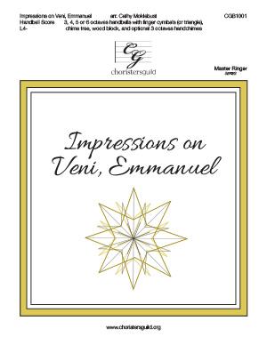 Impressions on Veni, Emmanuel - Handbell Score