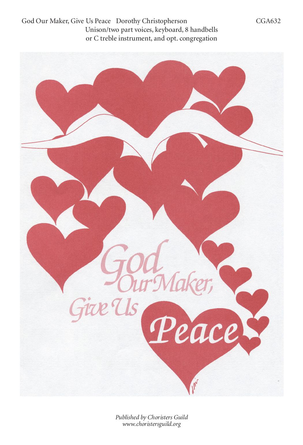 God Our Maker, Give Us Peace