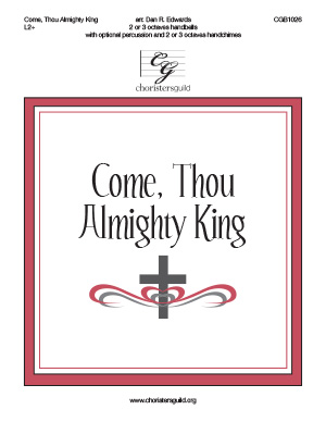 Come, Thou Almighty King, 2 or 3 octaves