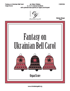 Fantasy on Ukrainian Bell Carol -Organ Score