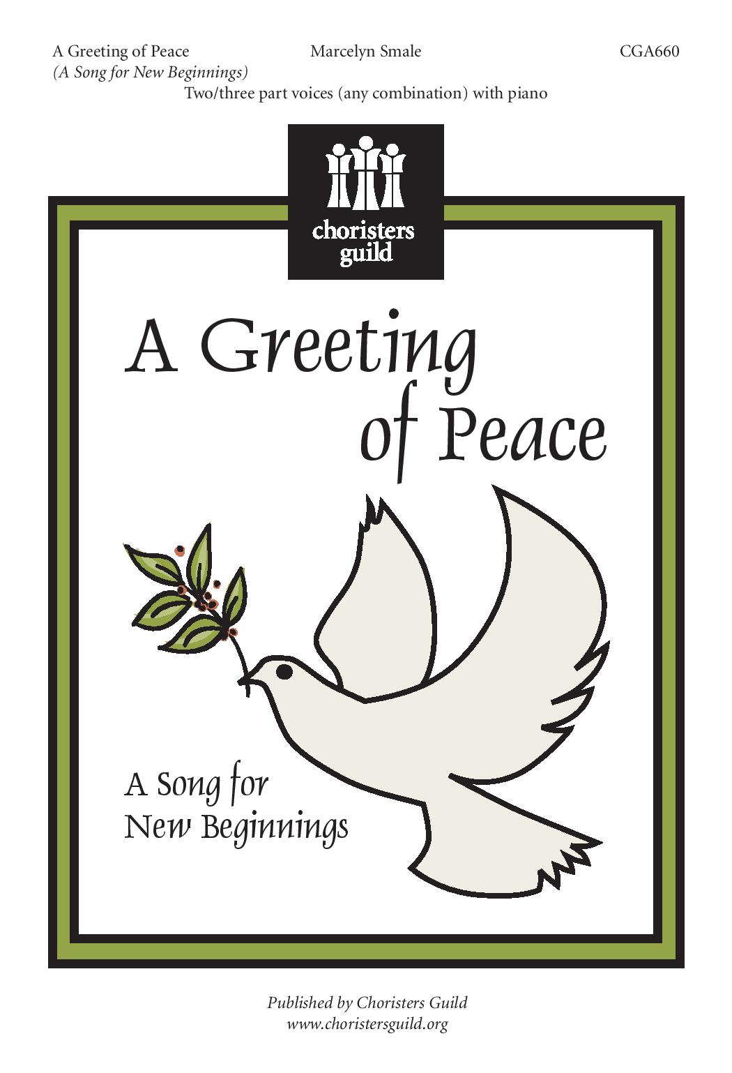A Greeting of Peace