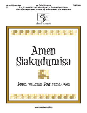 Amen Siakudumisa  - 2 or 3 octaves
