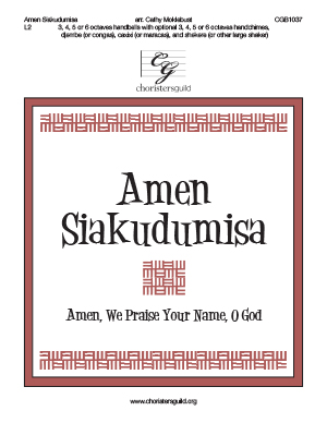 Amen Siakudumisa - 3, 4, 5 or 6 octaves