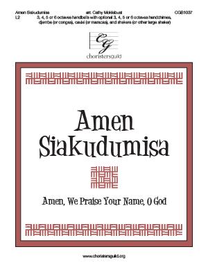 Amen Siakudumisa - 3, 4, 5 or 6 octaves