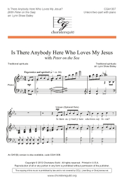 Is There Anybody Here Who Loves My Jesus? (U/2 pt)