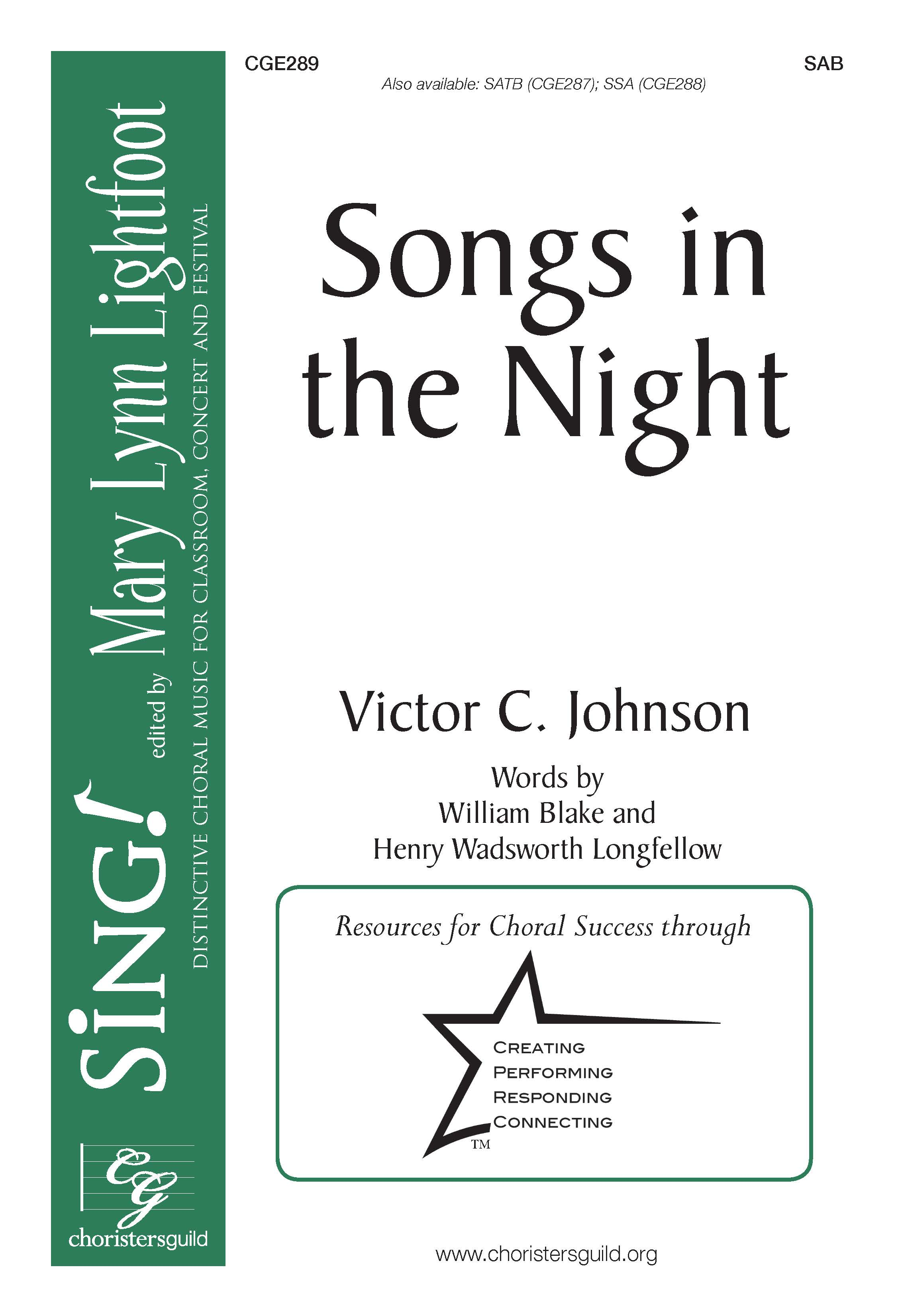 Songs in the Night SAB
