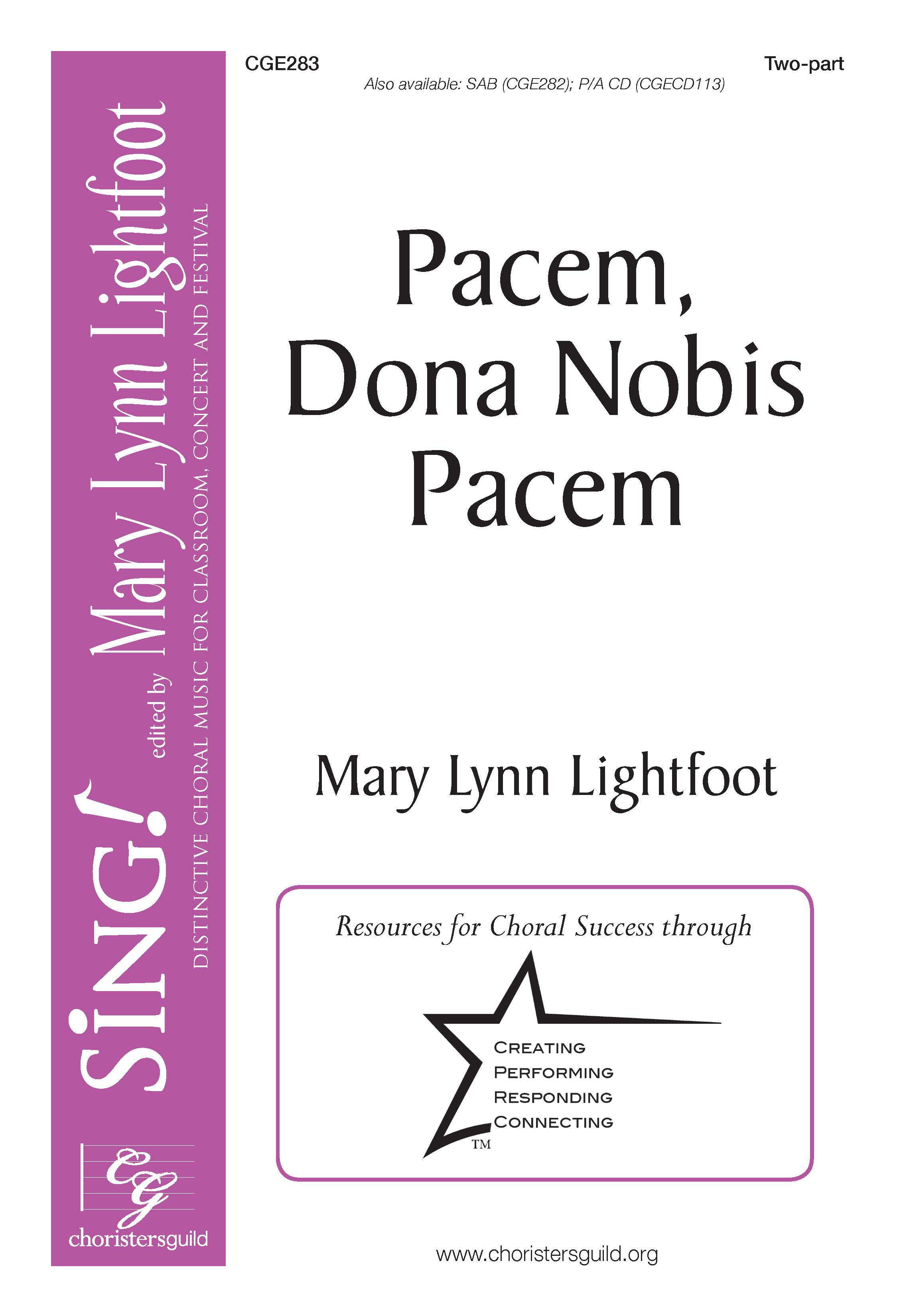 Pacem, Dona Nobis Pacem Two-part
