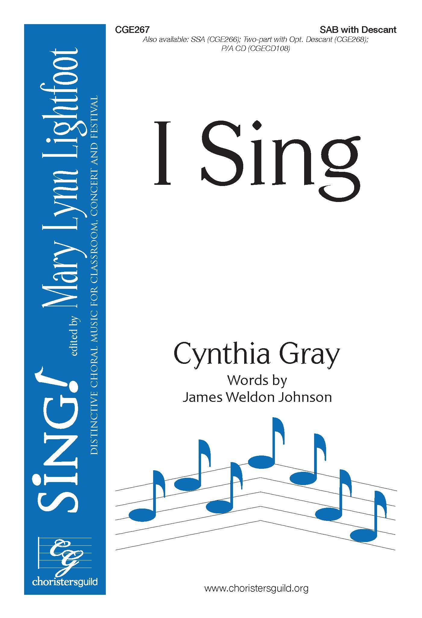 I Sing SAB
