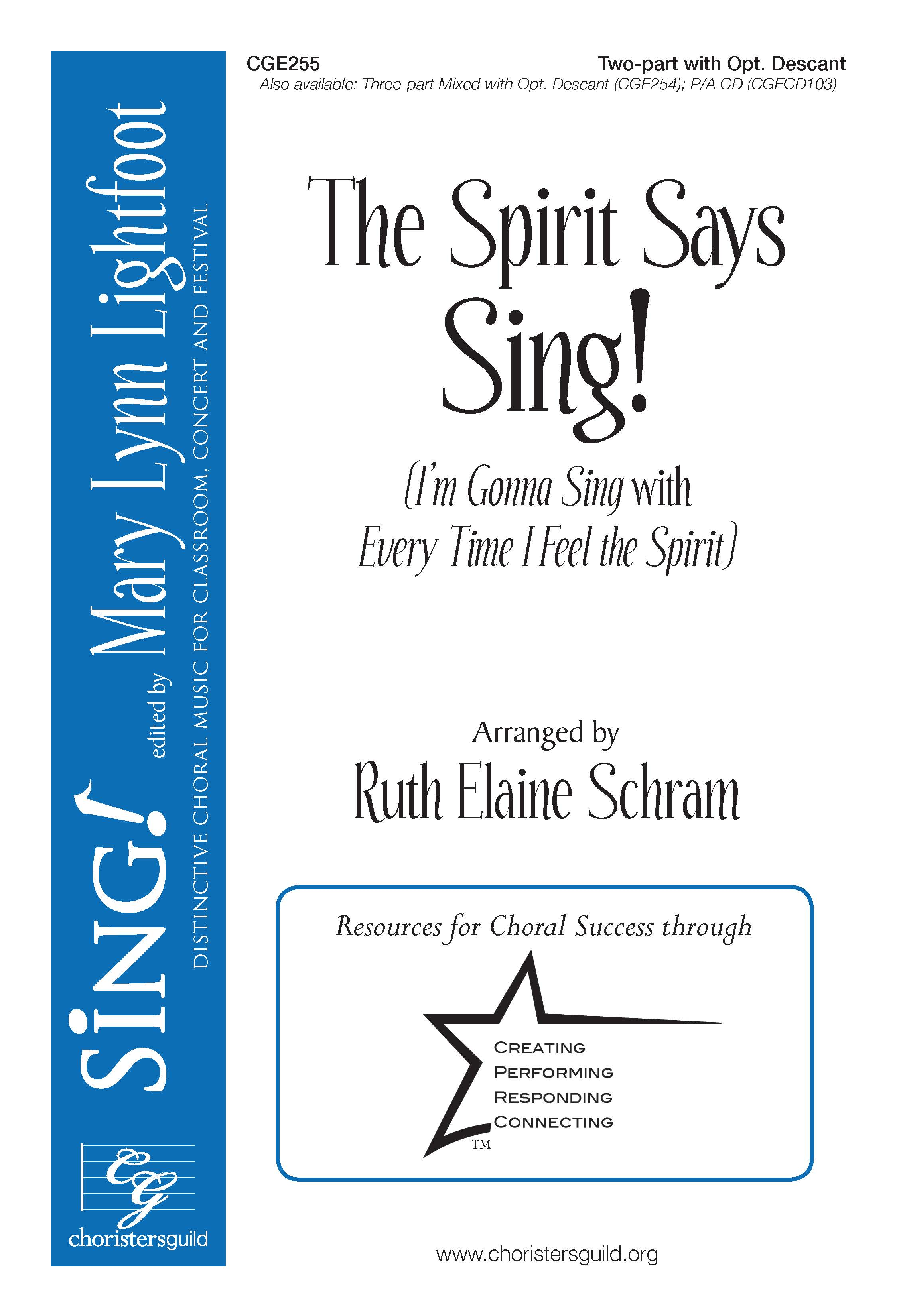 The Spirit Says Sing! Two-part