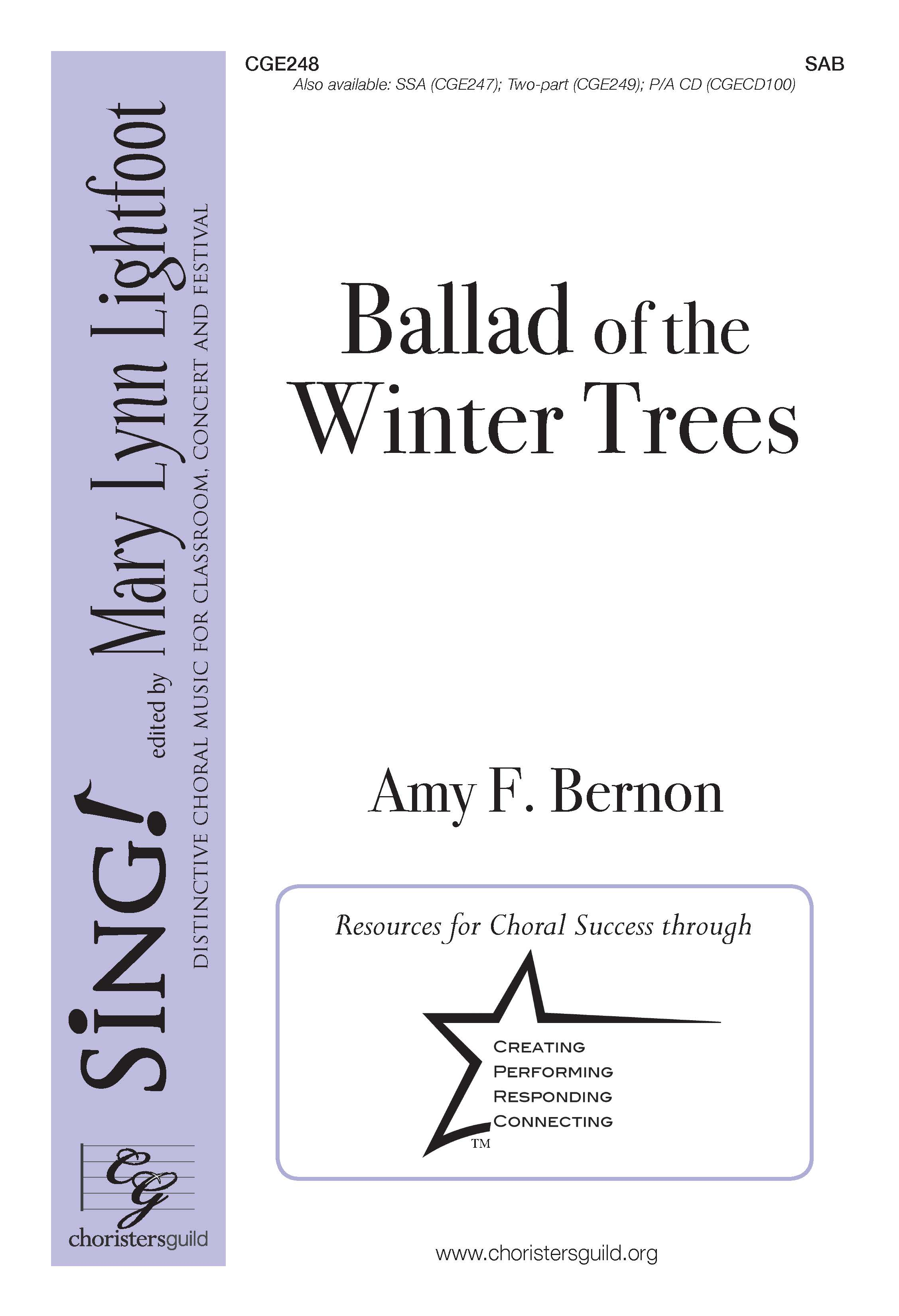 Ballad of the Winter Trees SAB