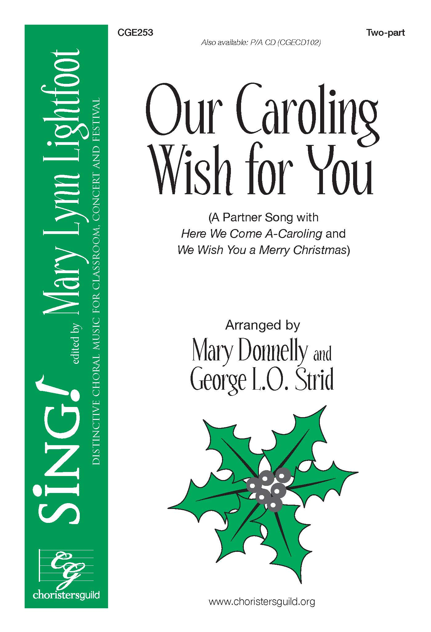 CGE264 Let\'s Sing a Sleighing Song Tonight!CGE253 Our Caroling Wish ...
