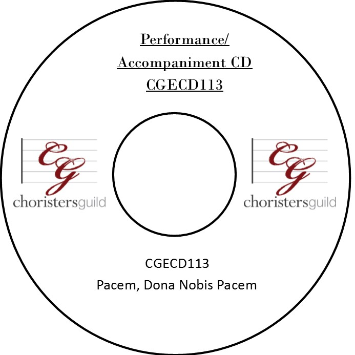 Pacem, Dona Nobis Pacem (Performance/Accompaniment CD)