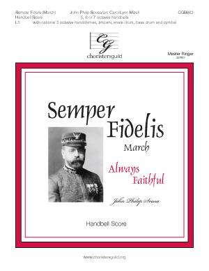 Semper Fidelis (March) - Handbell Score