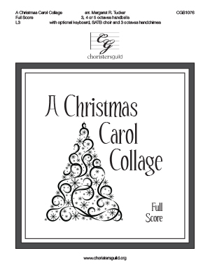 A Christmas Carol Collage - Full Score