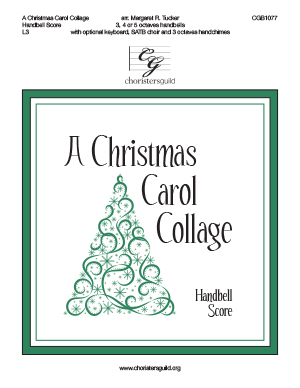 A Christmas Carol Collage - Handbell Score