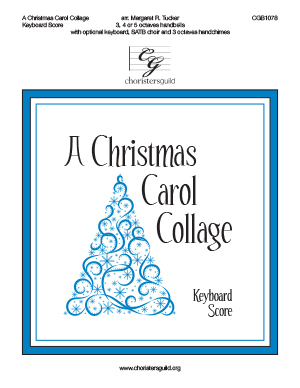 A Christmas Carol Collage - Keyboard Score