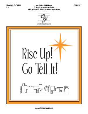 Rise Up! Go Tell It!