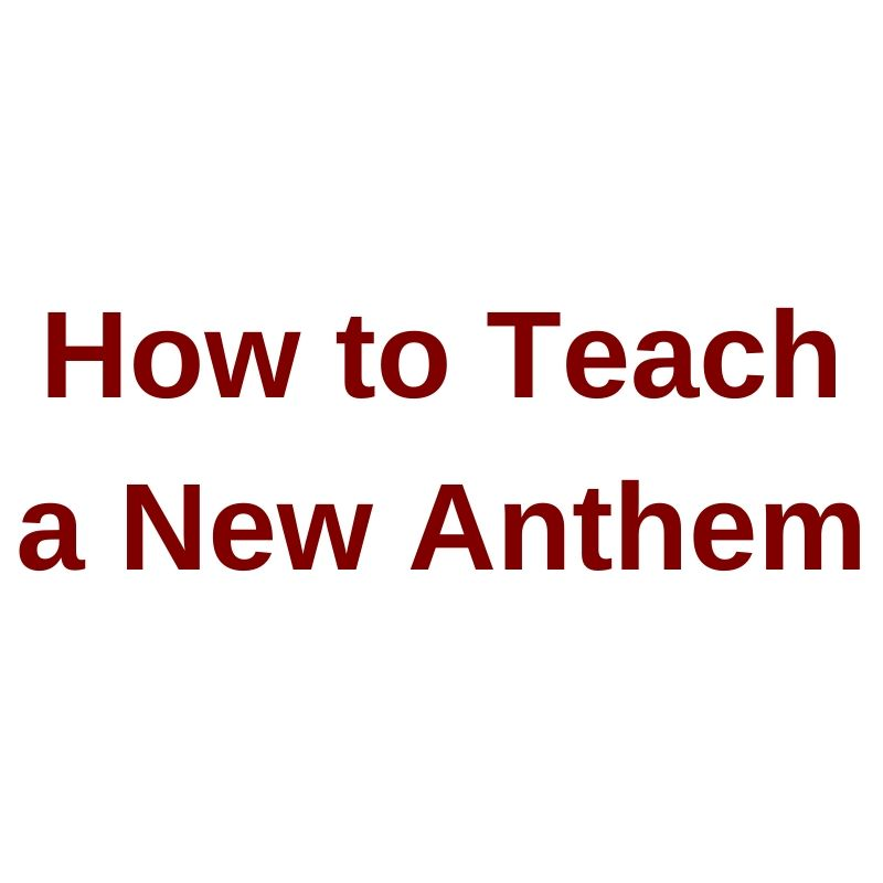 Tom Shelton Webinar 2016 How to Teach an Anthem Video on Demand
