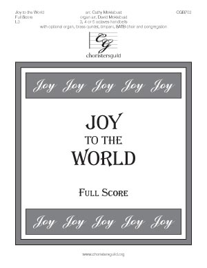 Joy to the World - Full Score