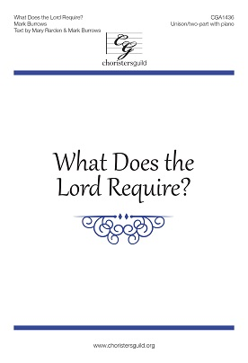 What Does the Lord Require? Accompaniment Track