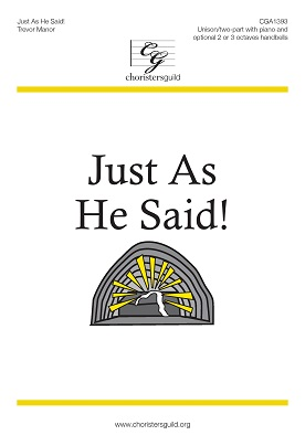 Just As He Said! Audio Download