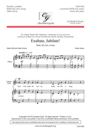 Exultate, Jubilate! Audio Download
