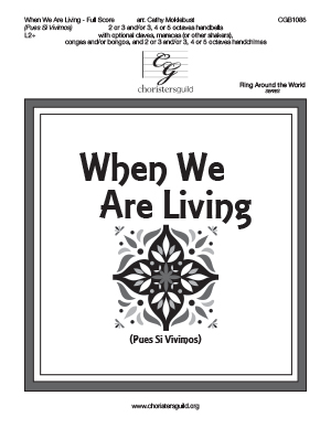 When We Are Living - Full Score
