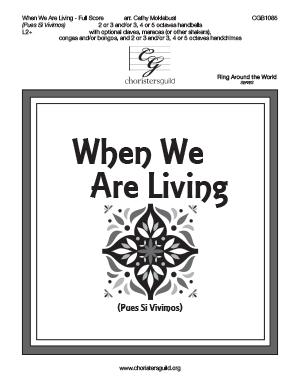 When We Are Living - Full Score