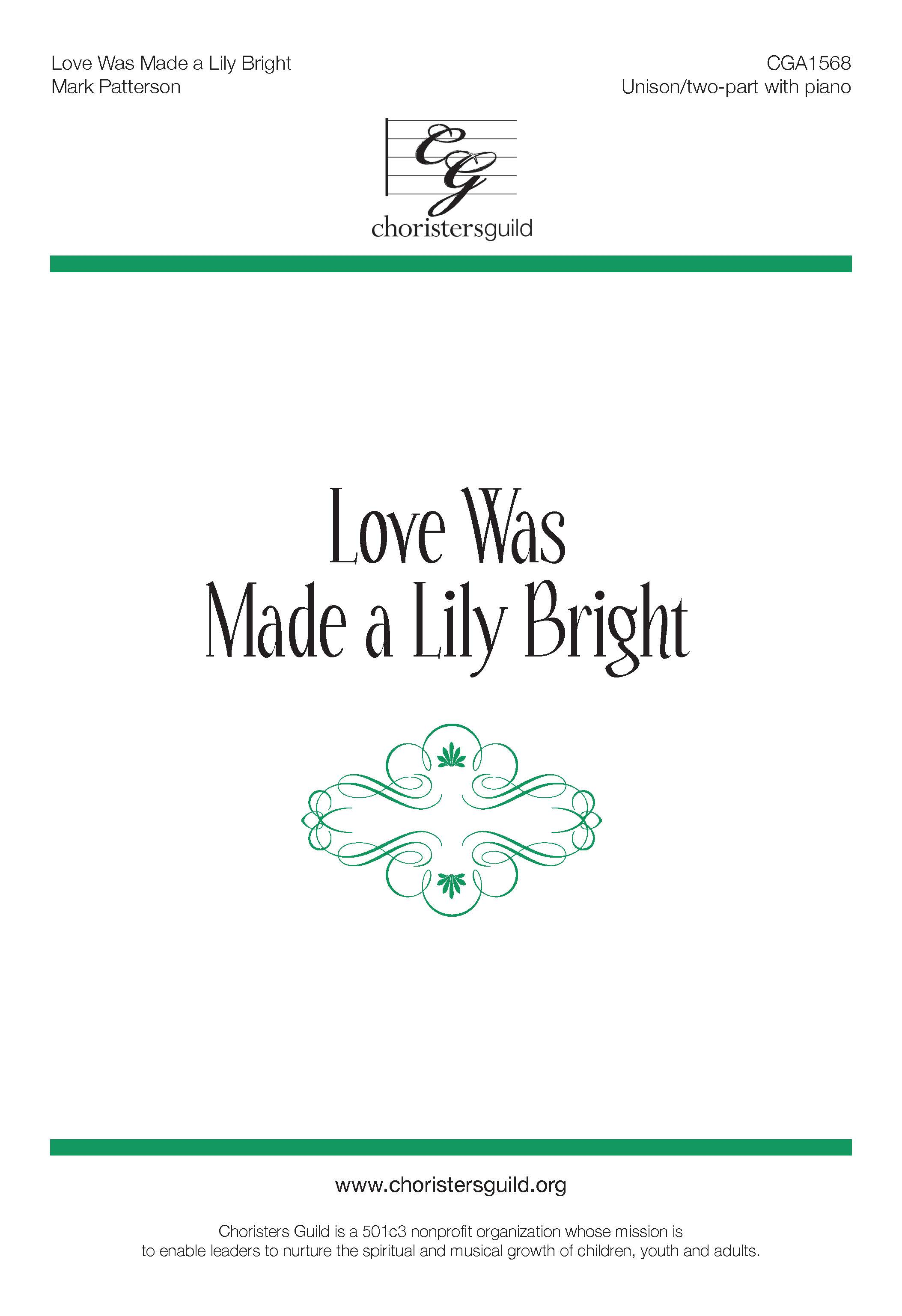 Love Was Made a Lily Bright (Accompaniment Track)